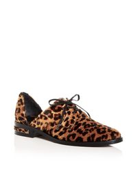 Frēda Salvador - Brown Women's Wit Leopard Print Calf Hair D'orsay Oxfords - Lyst