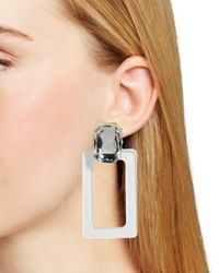BaubleBar Multicolor Luza Faceted Lucite Rectangle Drop Earrings