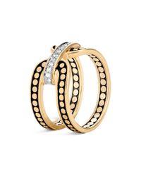 John Hardy Metallic 18k Yellow Gold Dot Diamond Ring