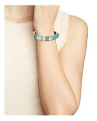 Alexis Bittar - Blue Lucite Hinge Bangle - Lyst