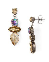 Sorrelli Multicolor Stacked Stone Drop Earrings