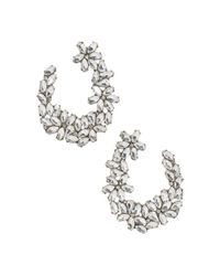 BaubleBar - Metallic Evolet Open Loop Cluster Drop Earrings - Lyst