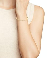 Freida Rothman - Metallic Pavé Clover Bangle - Lyst