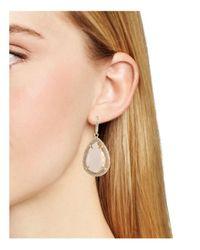 ABS By Allen Schwartz - Metallic Teardrop Earrings - Lyst