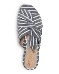 Sam Edelman - Multicolor Women's Darian Striped Slide Sandals - Lyst