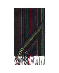 Paul Smith - Blue Striped Wool Scarf for Men - Lyst