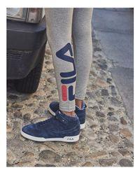 Fila | Gray Imelda Cropped Logo Pants | Lyst