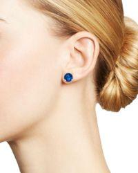 Ippolita Blue Rock Candy® Mini Stud Earrings In Midnight