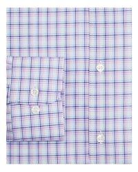 Ike Behar - Blue Check Regular Fit Dress Shirt for Men - Lyst