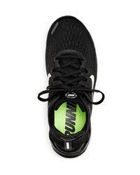 Nike - White Women's Free Rn Flyknit 2018 Lace Up Sneakers - Lyst