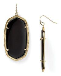 Kendra Scott - Black Danielle Earrings - Lyst