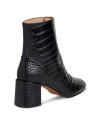 Whistles - Black Rowan Zip Front Ankle Boots - Lyst