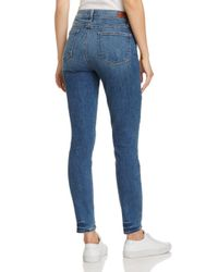PAIGE Blue Hoxton Ankle Skinny Jeans In Kenway