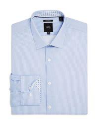 W.r.k. - Blue Shadow Dot Print Slim Fit Stretch Dress Shirt for Men - Lyst
