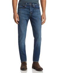 Rag & Bone Blue Fit 1 Skinny Fit Jeans In Throop for men