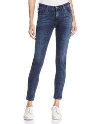 AG Jeans - Blue Contour 360 Ankle Denim Leggings In Faint Vision - Lyst