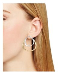Robert Lee Morris - Multicolor Two-tone Front-back Earrings - Lyst