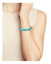 Alexis Bittar - Blue Liquid Silk Hinge Bangle - Lyst