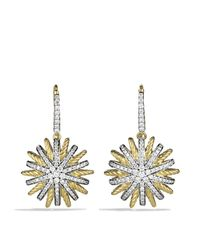 David Yurman - Yellow Starburst Drop Earrings With Diamonds - Lyst