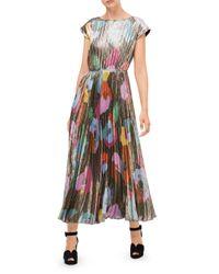 Kate Spade Black Floral Collage Shimmer Dress