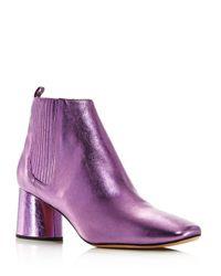 Marc Jacobs Purple Rocket Metallic Chelsea Boots