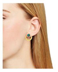 Vita Fede Metallic Moneta Open Stone Front-back Earrings