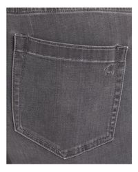 Vince Camuto Signature Gray Released-hem Ankle Jeans In Cobblestone