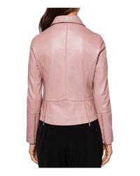 Ted Baker - Pink Lizia Leather Biker Jacket - Lyst