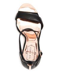 Ted Baker Black Women's Sharlot Leather Ankle Strap High-heel Sandals