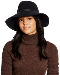 Eric Javits Black Wide Brim Hat