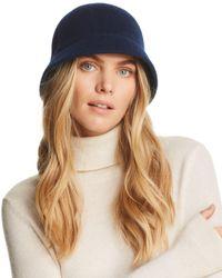 august hat company - Blue Melton Cloche - Lyst