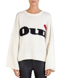 The Kooples White Oui Sweater