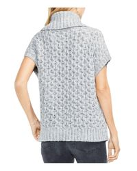 Vince Camuto - Gray Turtleneck Honeycomb Sweater - Lyst