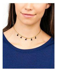 Gorjana - Metallic Playa Beaded Tassel Choker Necklace - Lyst