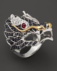 John Hardy Multicolor Sterling Silver & 18k Gold Naga Lava Dragon Ring