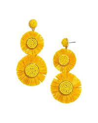 BaubleBar - Yellow Mariette Round Fringed Drop Earrings - Lyst