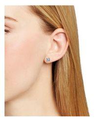 Carolee   Metallic Medium Cubic Zirconia Stud Earrings   Lyst