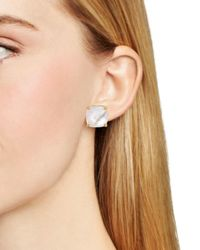 Kate Spade - Metallic Square Stud Earrings - Lyst