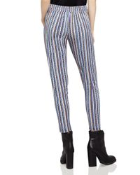 BCBGeneration - Blue Basketweave-stripe Track Pants - Lyst