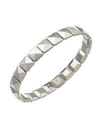 Chimento - Metallic 18k White Gold Armillas Collection Square Link Bracelet - Lyst