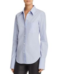 Theory Blue Button Down Shirt