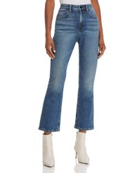 T By Alexander Wang Blue Cult Crop Straight Jeans In Light Indigo