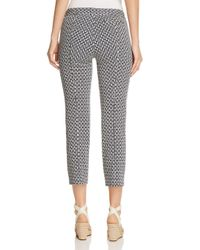 Tory Burch - Blue Cameron Cropped Pants - Lyst