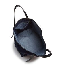 See By Chloé - Blue Andy Embroidered Canvas Tote - Lyst