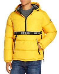 Guess Yellow Popover Half - Zip Regular Fit Jacket for men