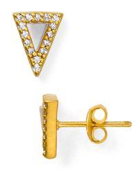 Freida Rothman Metallic Slice Stud Earrings