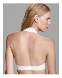 Free People - White Galloon Lace Halter Bra - Lyst