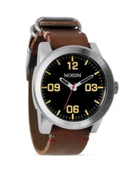 Nixon Brown The Corporal Watch for men