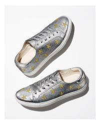 Kenneth Cole Kam Star Metallic Leather Lace Up Sneakers
