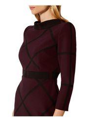 Karen Millen - Multicolor Windowpane Check-pattern Mini Dress - Lyst
